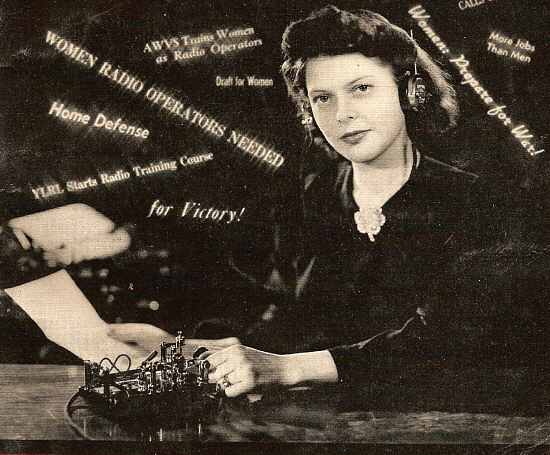 QST: May, 1942 - Women and Morse code/CW for our Country